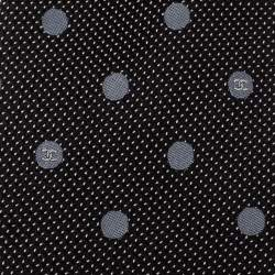 Chanel Black Logo Pattern Silk Jacquard Tie