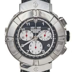 Charriol Mother of Pearl Black Stainless Steel Rubber Celtica CELT44 Men's Wristwatch 44 mm