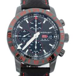 Chopard Black PVD Stainless Steel Mille Miglia 8992 GMT Speed Black 2 Men's Wristwatch 42 mm