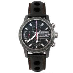 Chopard Grey Titanium Leather Grand Prix de Monaco Mille Miglia 168992-3032 Men's Wristwatch 42 mm