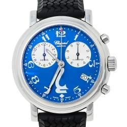 Chopard Blue Stainless Steel Rubber Godolphin Mille Miglia 8271 Men's Wristwatch 39 mm