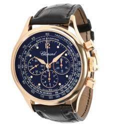 Chopard Black 18K Rose Gold Mille Miglia Vintage 16/1889 Men's Wristwatch 41 MM