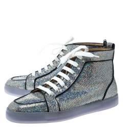 Christian Louboutin Glitter Disco Ball Rantus Orlato High Top Sneakers Size 42.5