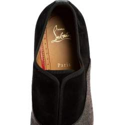 Christian Louboutin Multicolor Canvas And Suede Alpha Loafers Size 42.5