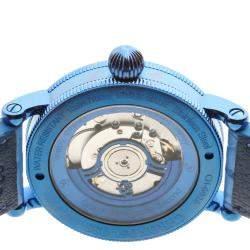 Chronoswiss Blue Stainless Steel Flying Regulator Open Gear Resec Limited CH-6926-BLBL Men's Wristwatch 44 MM