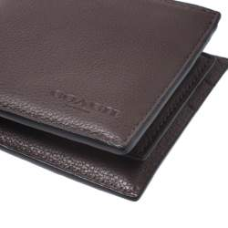 Coach Maroon Leather Compact Bifold Wallet