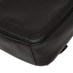 Coach Black Leather Metropolitan Sling Backpack