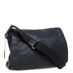Coach Black Pebbled Leather Courier Legacy Messenger Bag