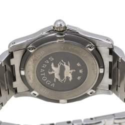 Concord Silver Diamonds Stainless Steel Saratoga SL 13.C2.230 Men's Wristwatch 34mm