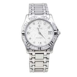 Concord Silver Mosaic Diamonds Stainless Steel Saratoga SL 13.C2.230 Men's Wristwatch 34mm