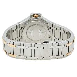 Concord Silver 18K Yellow Gold & Stainless Steel Diamonds Saratoga 24.C2.1894 Men's Wristwatch 38 mm