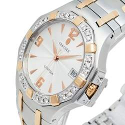 Concord Silver 18K Yellow Gold & Stainless Steel Diamonds Saratoga 24.C2.1894 Men's Wristwatch 38 mm