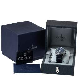 Corum Blue Stainless Steel Admiral's Cup 082.833.20/F373 Men's Wristwatch 41 MM