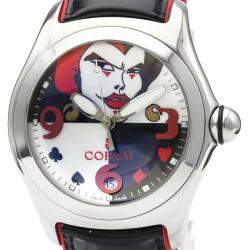 Corum Black/White Stainless Steel Bubble Joker Limited Edition Automatic 82.240.20 Men's Wristwatch 44 MM