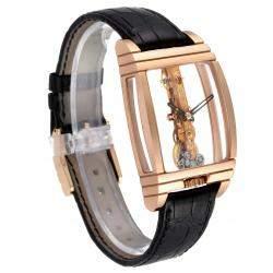 Corum 18K Rose Gold Golden Bridge Classic B113/01043 Men's Wristwatch 34 x 51 MM