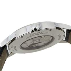 Corum Silver Stainless Steel Leather Heritage 157.16320/0001 BA48 Men's Wristwatch 38 mm