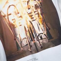 Craig Green White Cotton Talisman Print Crew Neck T Shirt M