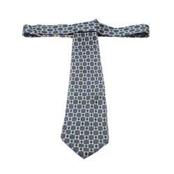 Dior Vintage Multicolor Monogram Printed Silk Traditional Tie