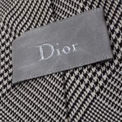 Dior Monochrome Prince of Wales Silk Skinny Tie