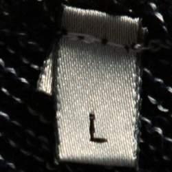 Dior Homme Black Hardior Patterned Jacquard Wool Blend Pullover L