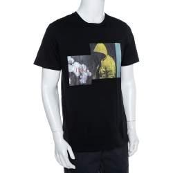 Dior Homme Black Cotton Graphic Print Crewneck T-Shirt L