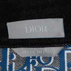Dior Black Denim Oblique Lined Button Front Jacket XXL