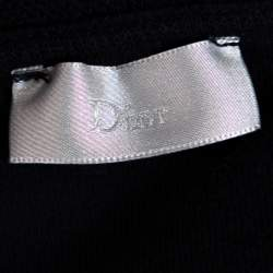 Dior Navy Blue Knit Bee Embroidered Hooded Jacket L