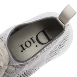 Dior White/Grey Knit B21 Socks Low Top Sneakers Size 40.5