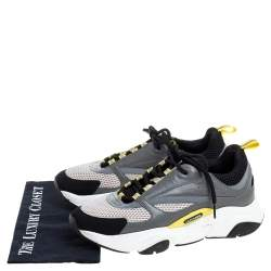 Dior Grey Mesh, Suede and Leather B22 Runner Sneakers Size 43