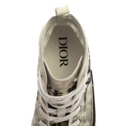 Dior White Oblique Mesh B23 High Top Sneakers Size 42
