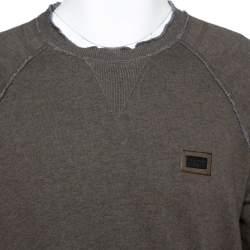 Dolce & Gabbana Grey Cotton Knit Sweatshirt L