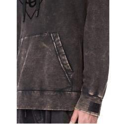 Dolce & Gabbana Grey Distressed-effect Hoodie Size EU 46