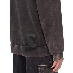 Dolce & Gabbana Grey Distressed-effect Hoodie Size EU 50