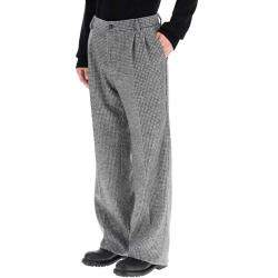 Dolce & Gabbana Grey/Black Houndstooth Trousers Size EU 50
