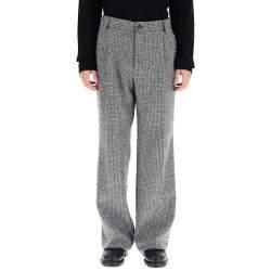 Dolce & Gabbana Grey/Black Houndstooth Trousers Size EU 50