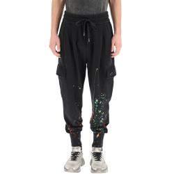 Dolce & Gabbana Black Dripping Color Effect Jogging Pants Size EU 46