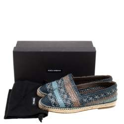 Dolce & Gabbana Bicolor Braided Leather Espadrilles Size 40