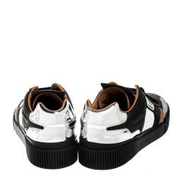 Dolce & Gabbana Multicolor Leather And Fabric New Miami Low Top Sneakers Size 44
