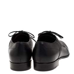 Dolce & Gabbana Black Leather Wing Tip Lace Up Oxfords Size 45
