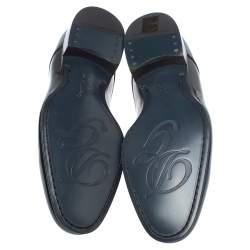 Dolce & Gabbana Black Patent Leather Lace Up Oxfords Size 40.5