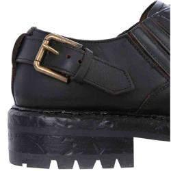 Dolce & Gabbana Black Derby Cowhide Shoe Size IT 42.5