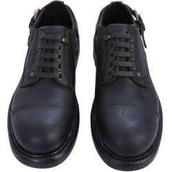 Dolce & Gabbana Black Cowhide slip-on derby shoes Size EU 40
