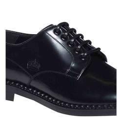 Dolce & Gabbana Black Leather Derby Size EU 39