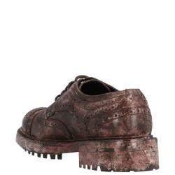 Dolce & Gabbana Brown Vintage-look calfskin Derby brogues Size EU 42