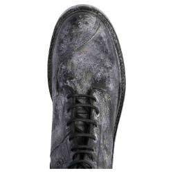 Dolce & Gabbana Black Vintage-look calfskin lace-up ankle Boots Size 42.5