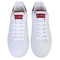 Dolce & Gabbana White Portofino Sneakers Size IT 42