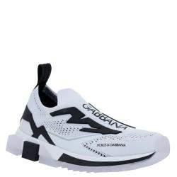 Dolce & Gabbana Black/White Sorrento Sneakers Size IT 43