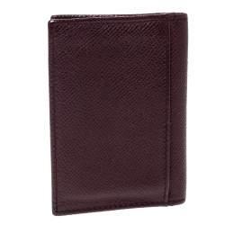 Dolce & Gabbana Dark Burgundy Leather Bifold Card Holder