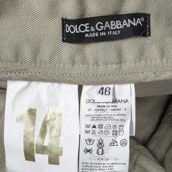 Dolce & Gabbana 14 Gold Beige Distressed Ripped Jeans S
