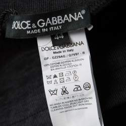 Dolce & Gabbana Navy Blue Washed Effect Sweatpants XS